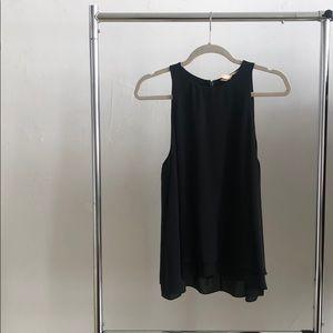 Rebecca Taylor 100% silk black blouse